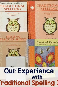 Our Experience with Traditional Spelling I from Memoria Press
