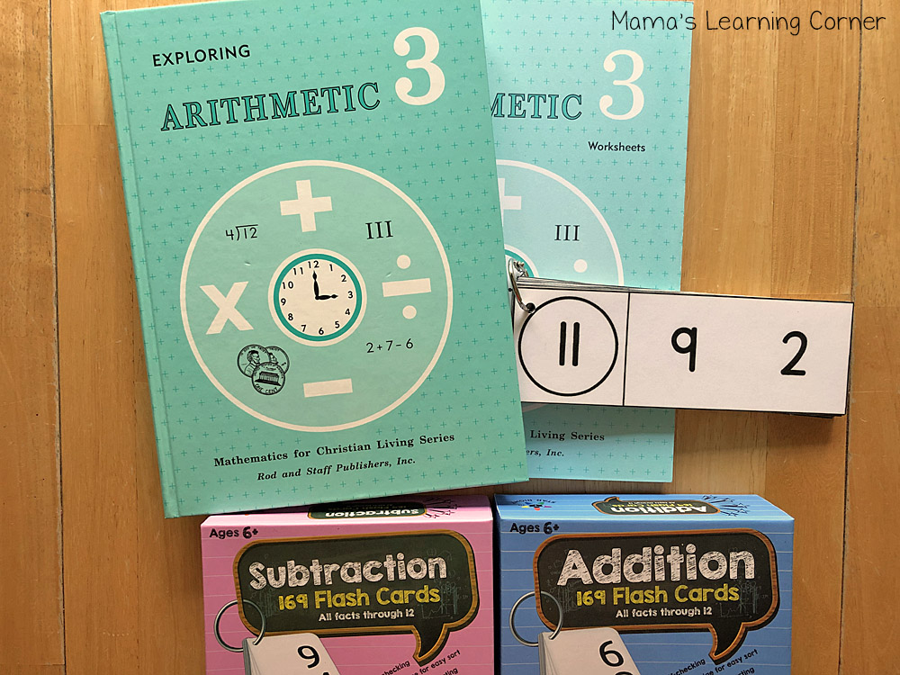 3rd Grade Homeschool Math Rod and Staff and Flash Cards