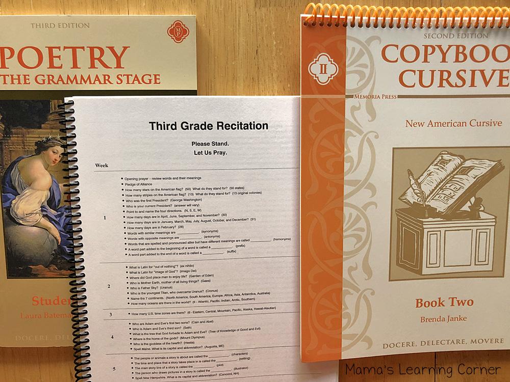 3rd Grade Homeschool Poetry Rectitation Copybook