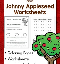 Apple Worksheets and Johnny Appleseed Worksheets - Mamas Learning Corner [ 1500 x 1000 Pixel ]