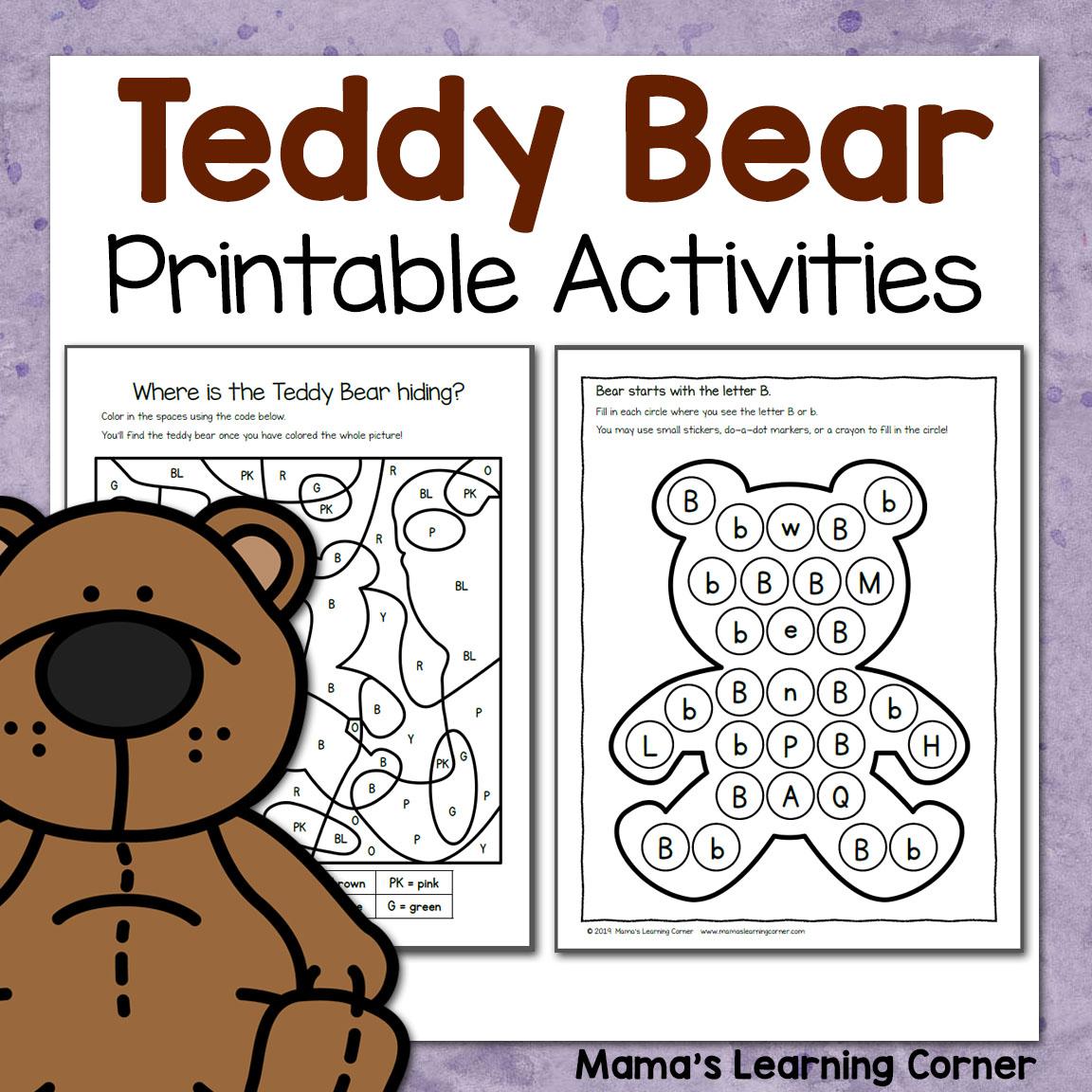 Teddy Bear Printable Activities