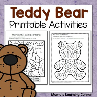 Teddy Bear Printable Activities