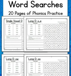 Long Vowel Word Search Puzzles - Mamas Learning Corner [ 1500 x 1000 Pixel ]