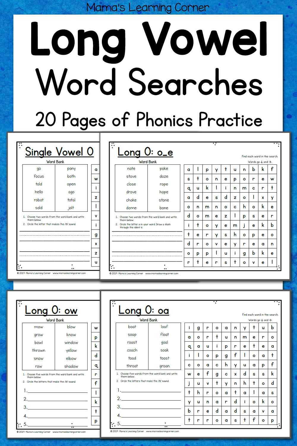 medium resolution of Long Vowel Word Search Puzzles - Mamas Learning Corner