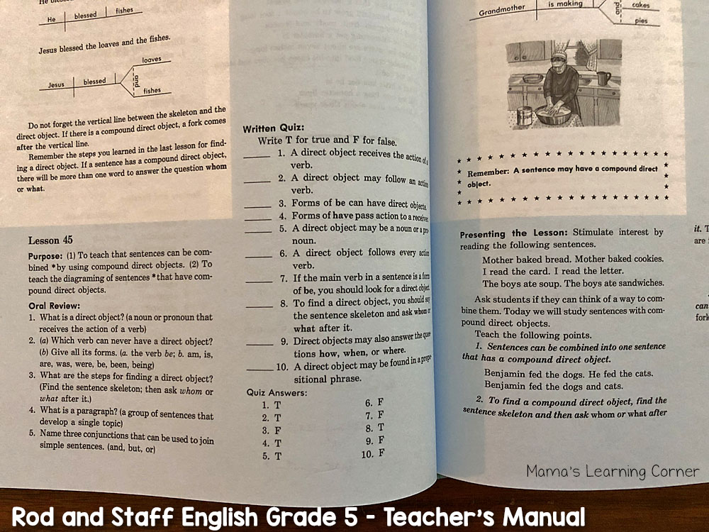 Rod and Staff English Grade 5 Teachers Manual