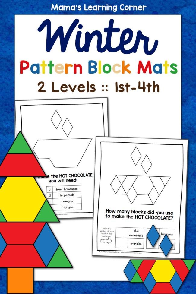 Winter Pattern Block Mats 2 Levels