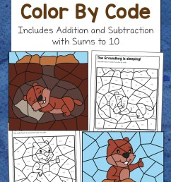 Groundhog Day Color By Code Worksheets - Mamas Learning Corner [ 1500 x 1000 Pixel ]