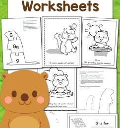 Free Groundhog Day Worksheets! - Mamas Learning Corner [ 1500 x 1000 Pixel ]