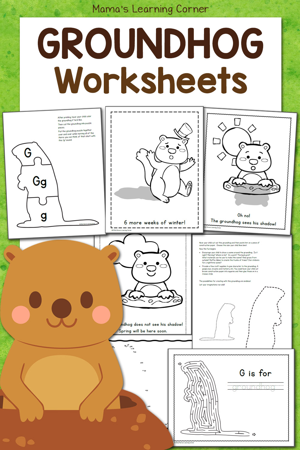 medium resolution of Free Groundhog Day Worksheets! - Mamas Learning Corner