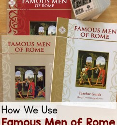How We Use Famous Men of Rome in Our Homeschool - Mamas Learning Corner [ 1333 x 1000 Pixel ]