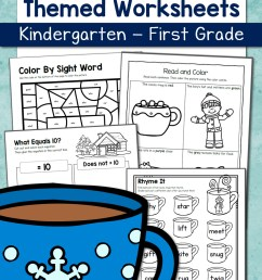 Winter Worksheets for Kindergarten and First Grade - Mamas Learning Corner [ 1500 x 1000 Pixel ]