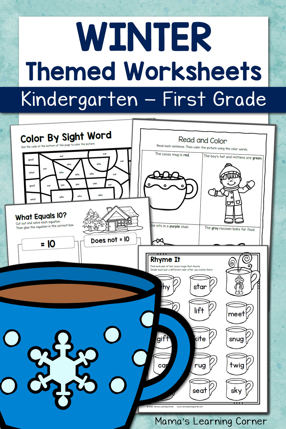 hight resolution of Winter Worksheets for Kindergarten and First Grade - Mamas Learning Corner