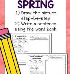 Spring Directed Draw and Write Worksheets - Mamas Learning Corner [ 1500 x 1000 Pixel ]
