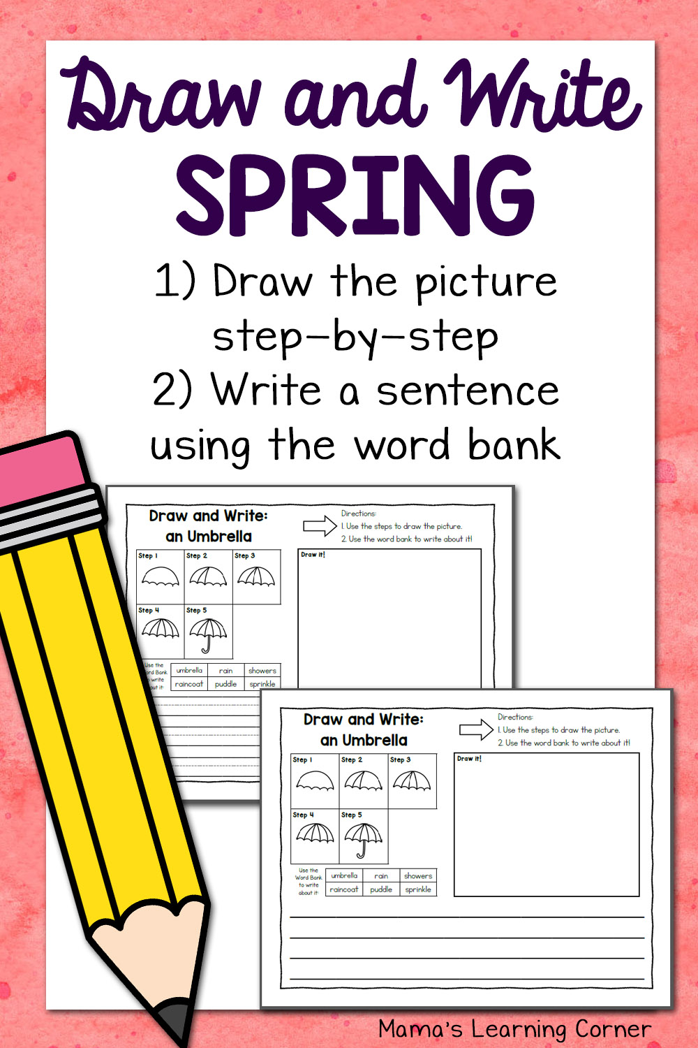 medium resolution of Spring Directed Draw and Write Worksheets - Mamas Learning Corner