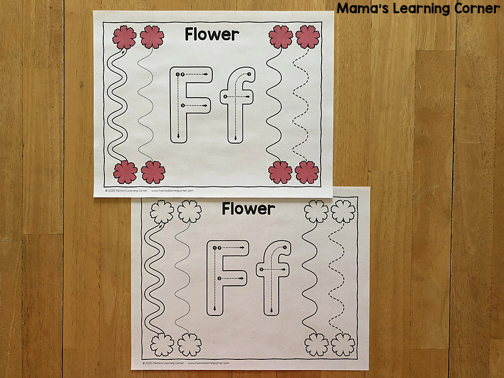Spring Tracing Lines for Preschool
