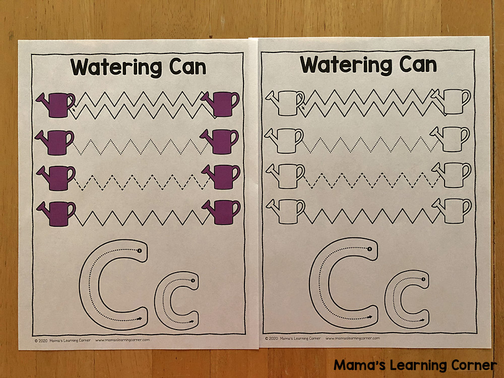 Spring Tracing Lines for Preschoolers