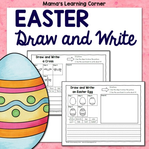 Easter Directed Draw and Write Worksheets