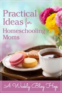 Practical Ideas for Homeschool Moms Weekly Blog Hop #6