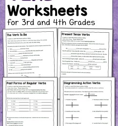 Verb Worksheets for 3rd and 4th Grades - Mamas Learning Corner [ 1500 x 1000 Pixel ]