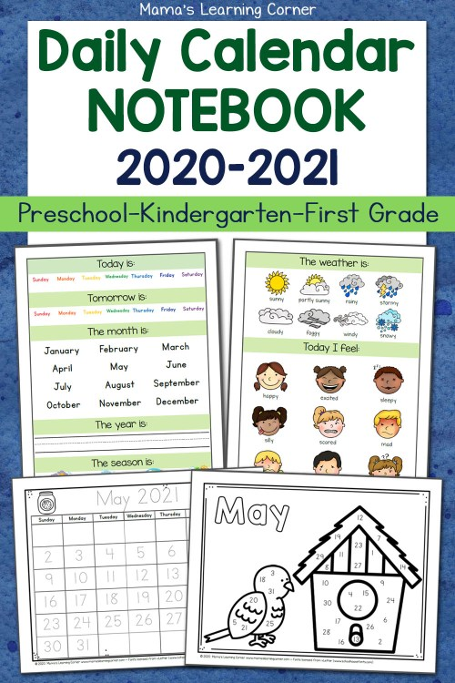 small resolution of Daily Calendar Notebooks for 2020-2021 - Mamas Learning Corner