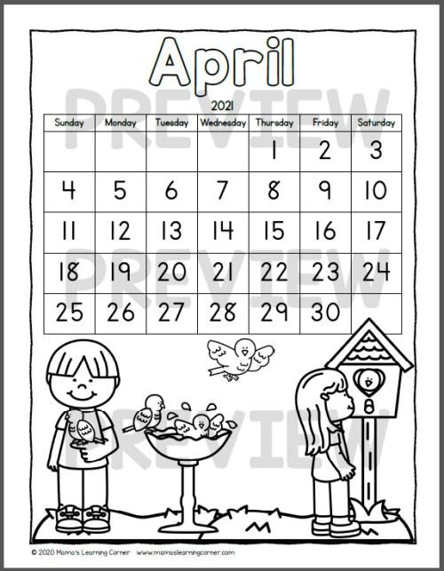 Color Your Own Calendar 3