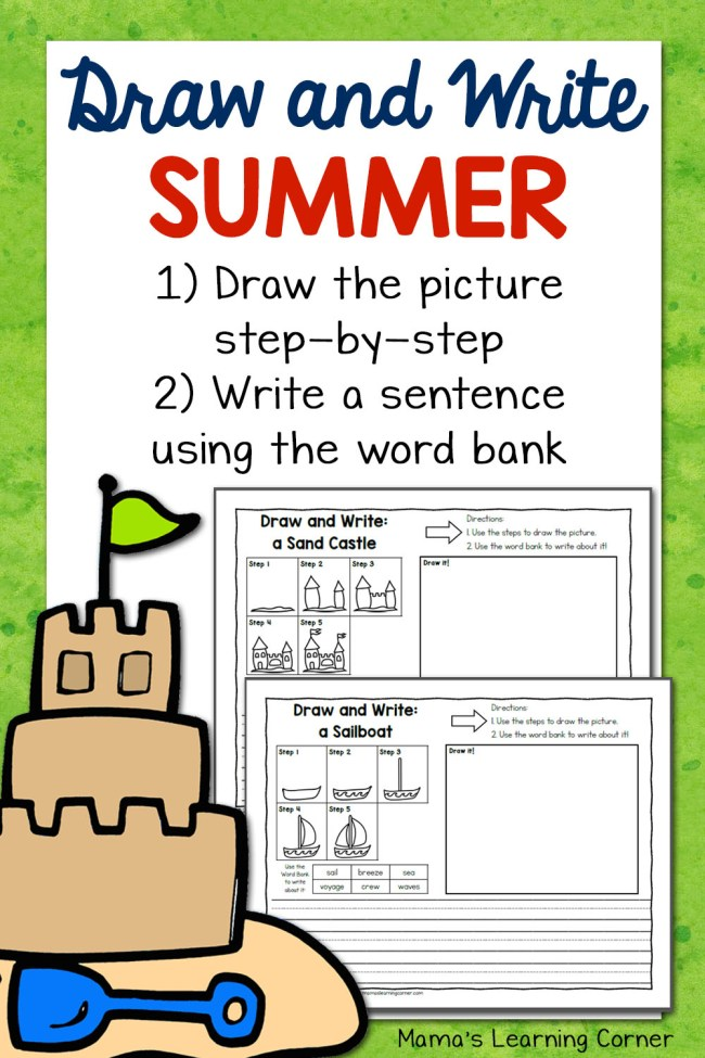 Summer Directed Draw and Write Worksheets