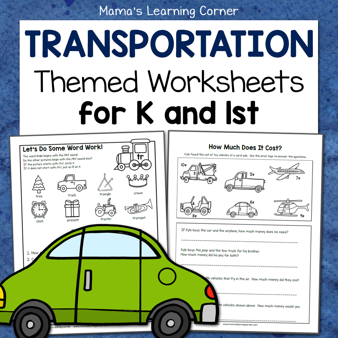 hight resolution of Transportation Worksheets for Kindergarten and First Grade - Mamas Learning  Corner