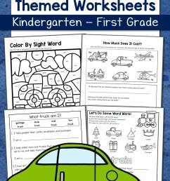 Transportation Worksheets for Kindergarten and First Grade - Mamas Learning  Corner [ 1500 x 1000 Pixel ]