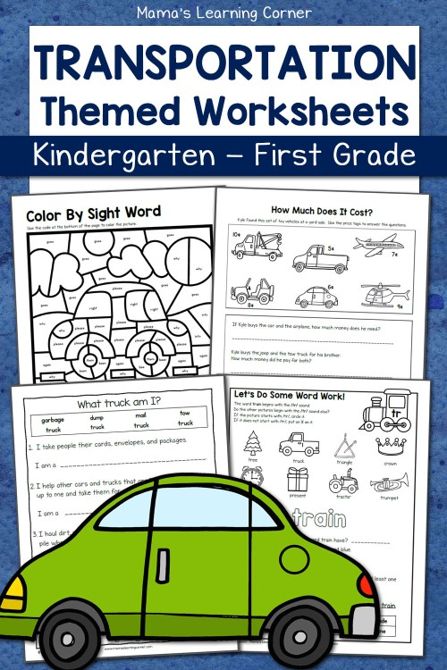 small resolution of Transportation Worksheets for Kindergarten and First Grade - Mamas Learning  Corner