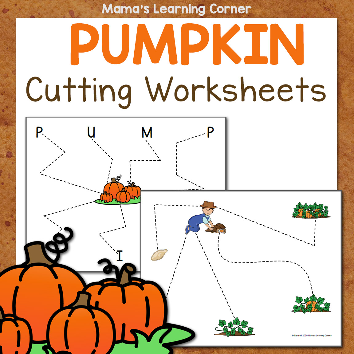 Pumpkin Cutting Worksheets