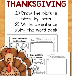 Thanksgiving Directed Draw and Write Worksheets - Mamas Learning Corner [ 1500 x 1000 Pixel ]