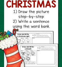 Christmas Directed Draw and Write Worksheets - Mamas Learning Corner [ 1500 x 1000 Pixel ]
