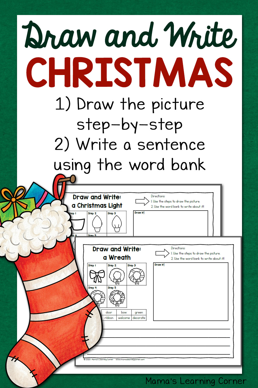 medium resolution of Christmas Directed Draw and Write Worksheets - Mamas Learning Corner