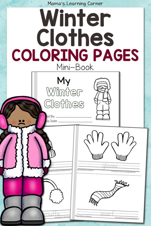 small resolution of Winter Coloring Pages - Mamas Learning Corner