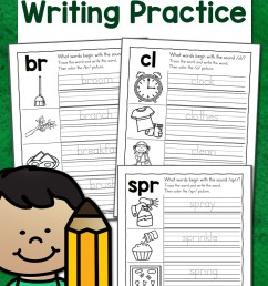 Blends Writing Practice Worksheets - Mamas Learning Corner [ 1500 x 1000 Pixel ]