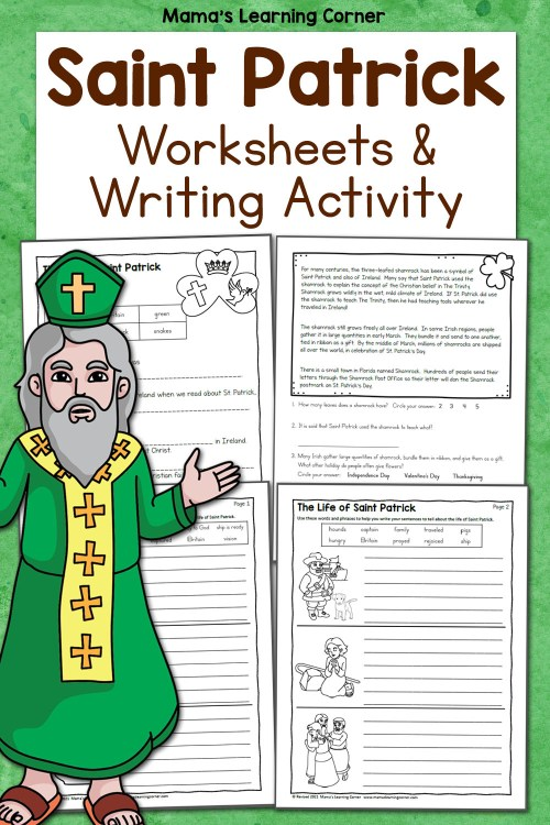 small resolution of Saint Patrick Worksheets for 2nd-4th Graders - Mamas Learning Corner