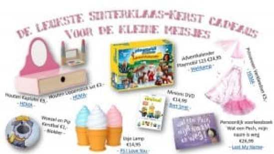 Sint-Kerst cadeautjes voor kleine meisjes