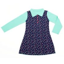 ninie-kinderkleding-polo-dress-marine-bloem-hr