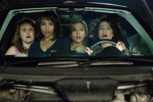 Jillian Bell,Zoe Kravitz, Scarlett Johansson and Ilana Glazer in ROUGH NIGHT