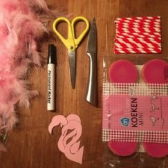 DIY Flamingo traktatie benodigdheden