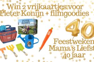 Feestweken Mama's liefste 40 jaar Pieter Konijn