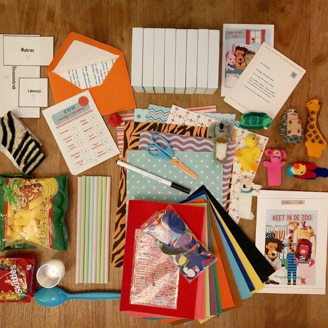 Kinderfeestjes Fluks en Vier inhoud pakket
