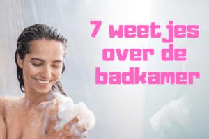 7 weetjes over de badkamer