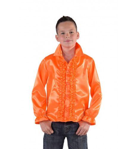 Oranje Outfit - shirt kids - Feestkleding365