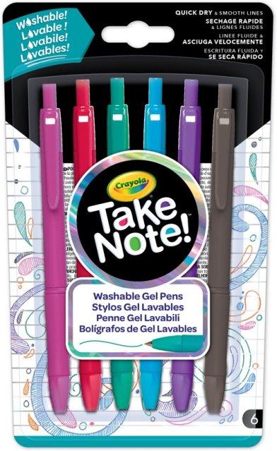 Crayola Take Note! Afwasbare Gelpennen 6st.