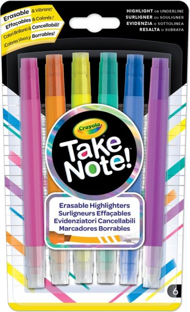 Crayola Take Note! Uitwisbare Markeerstiften