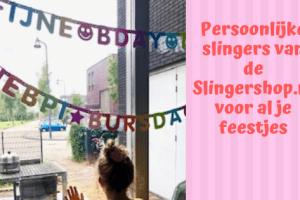 Persoonlijke slingers van de Slingershop.nl voor al je feestjes
