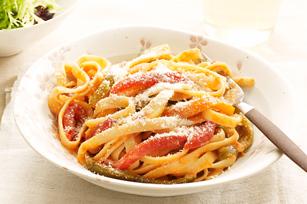 Roasted Three-Pepper Pasta Primavera