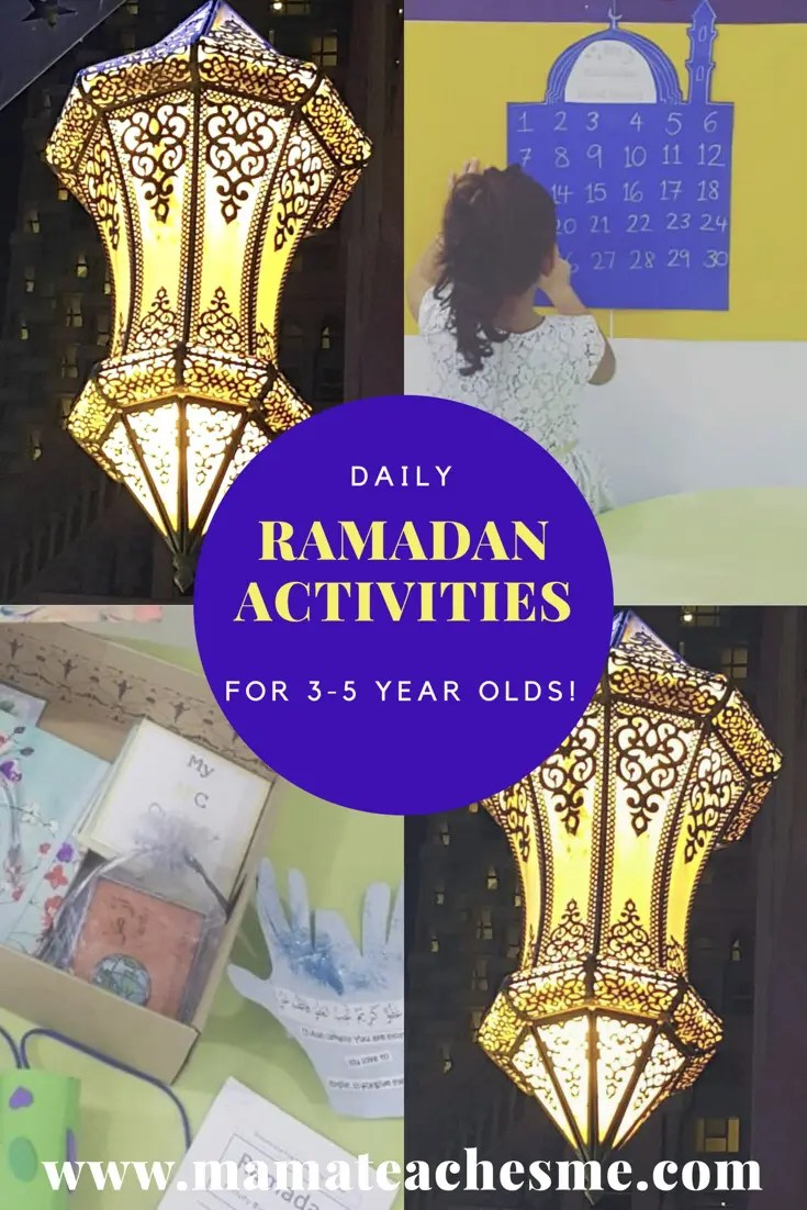 Daily Ramadan Activities with 3-5 year olds!