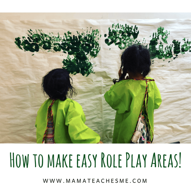 How to make easy Role Play Areas to help your child's learning!